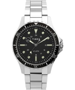 Montre Navi XL 41mm Bracelet en acier inoxydable Acier inoxydable/Noir large
