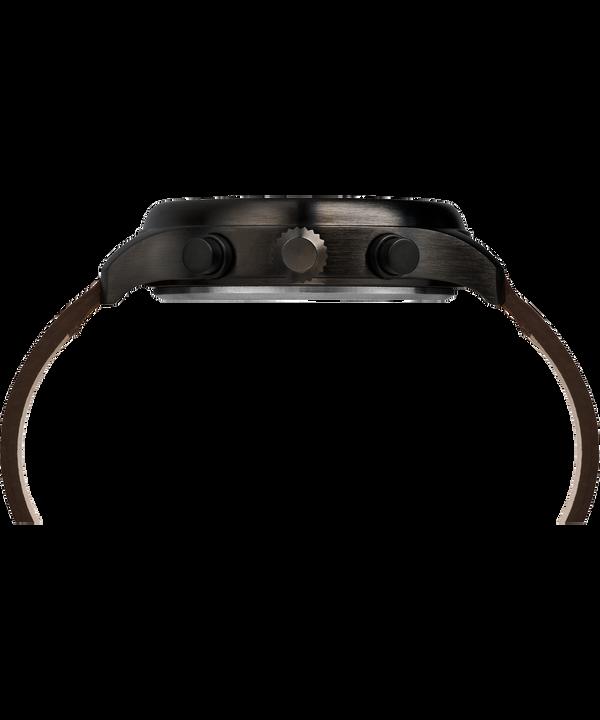 Montre chronomètre Expedition Field 43mm Bracelet en cuir Black/Brown large