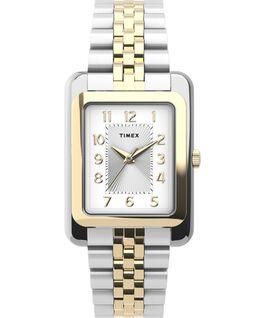 Montre Addison 25mm Bracelet en acier inoxydable Bicolore/Argenté large
