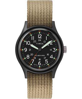 Montre avec bracelet en tissu ArchiveMK1 Aluminum 40mm Noir/Olive large