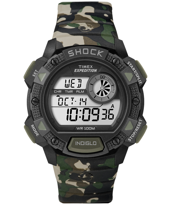 Montre Expedition Base Shock 45 mm Bracelet en résine Camo large