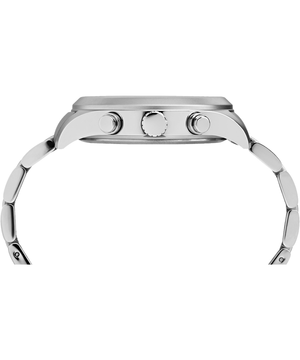 Montre Waterbury World Time 43mm Acier inoxydable Stainless-Steel/Cream large
