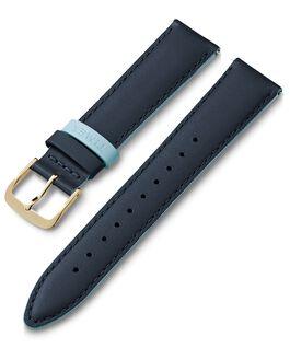 Bracelet en cuir 20mm boucle de sangle colorée Bleu large
