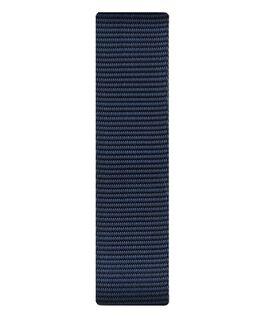 Bracelet une pièce en nylon bleu  large