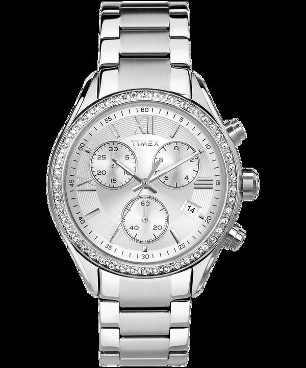 Montre Miami 38mm bracelet en cristaux Swarovski® Stainless-Steel/Silver-Tone large