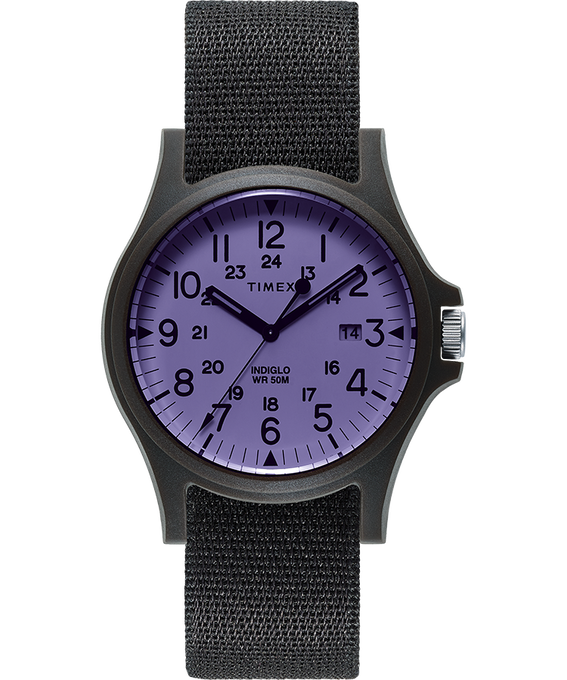 Montre Acadia 40 mm Bracelet en tissu Black/Purple large