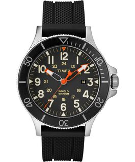 MONTRE ALLIED COASTLINE 43MM AVEC BRACELET EN SILICONE Silver-Tone/Black large