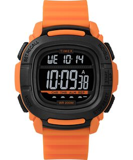 MONTRE BST.47 47MM AVEC BRACELET EN SILICONE Orange/Black large