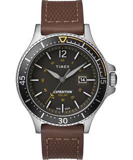 Montre Expedition Ranger Solar 43mm Bracelet en cuir Argenté/Marron/Gris/Vert large