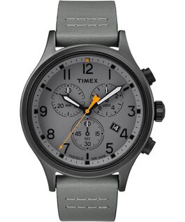 Allied Chronograph 42mm Leather Watch Black/Gray large