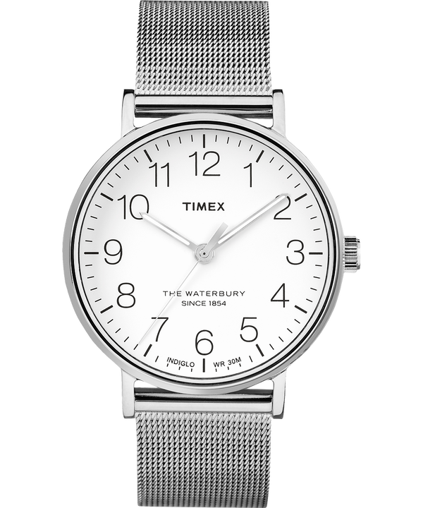 Montre Waterbury Classic 40 mm Bracelet en acier inoxydable Stainless-Steel/White large